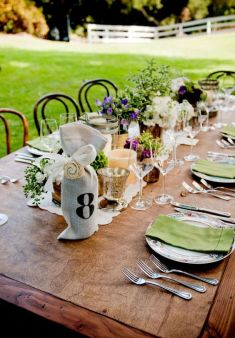 Pretty table...Saddlerock Ranch Wedding by Yvette Roman + Living Cinema + R. Jack Balthazar | Style Me Pretty: