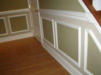 Two Tone Picture Frame Wainscoting | chair rail and ...