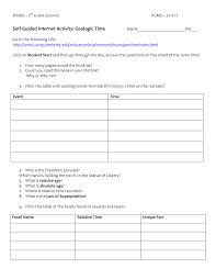 geologic time scale worksheet - Google Search | Fun Middle ...