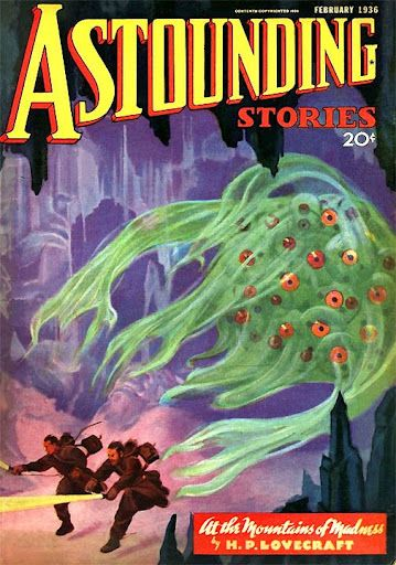 Cover of Astounding Stories featuring part one of H.P. Lovecraft's