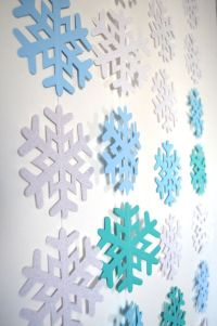 Icy Snowflake Garland extra large frozen by ...