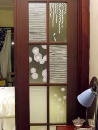 Painted window films - here are some decorative window ...