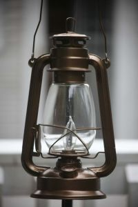 Electric Hurricane Lantern BRONZE Ceiling Lamp | Hanging ...