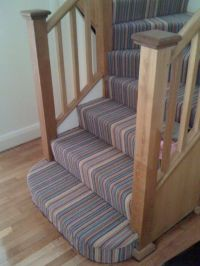 Striped carpet on stairs winder not right? - DIYnot.com ...