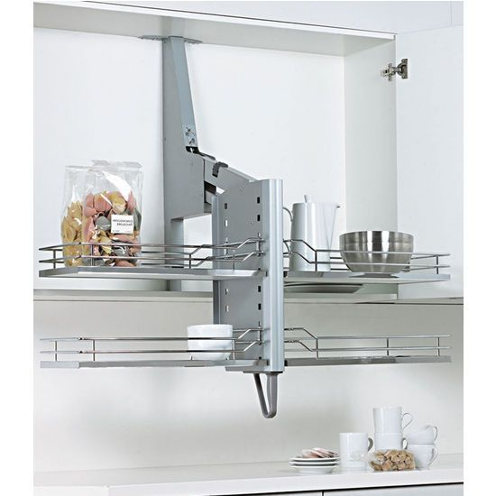 Accessible Upper Kitchen Cabinets Pull-down Shelf System For Cabinets #kitchensource #