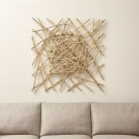 Wall decor for Living Room - Sticks Wood Wall Art | Crate ...