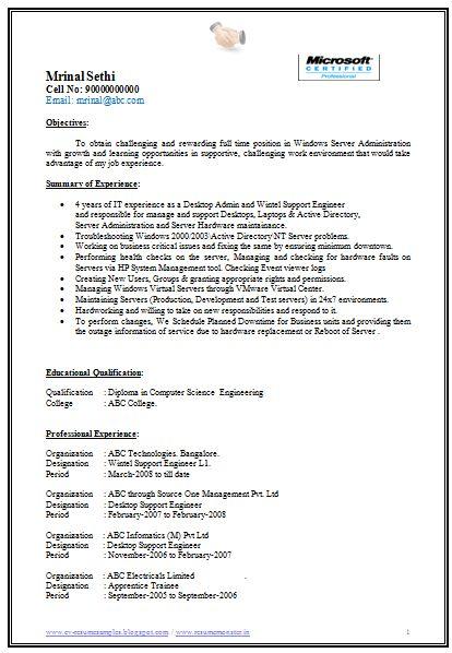 Resume Samples For Java Freshers Cv Fresher Sample Best