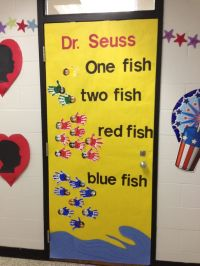 "Dr. Seuss ""One Fish, Two Fish, Red Fish, Blue Fish"" door"