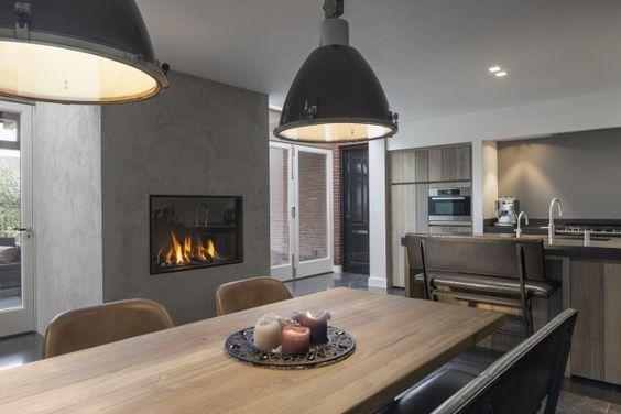 Keuken Met Gasgestookte Liftdeurhaard Luna Diamond Van M