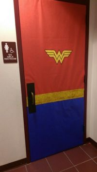 Wonder Woman Door Decoration   Pharr Memorial Library ...