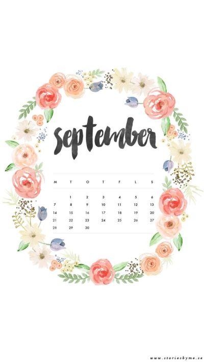 iPhone wallpaper september calendar   my blog ★   Pinterest   iPhone wallpapers, Calendar and ...