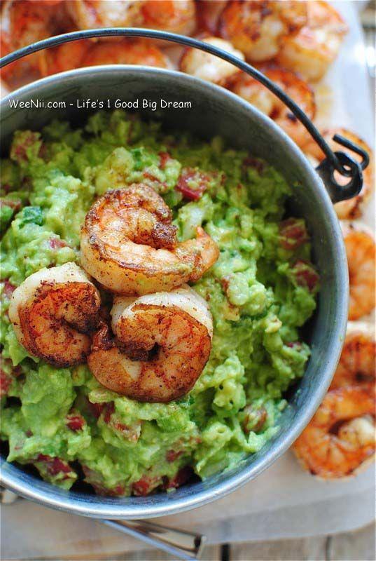 Cajun Spicy Shrimp Guacamole - Simple Healthy Recipes For Weight