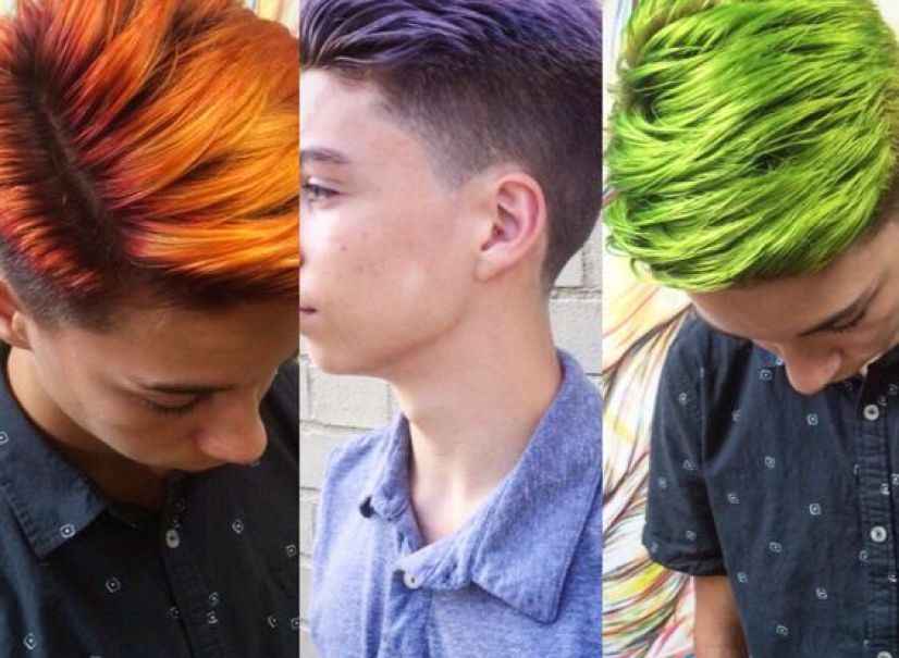 Men's hair color men's style by Austin Ruiz Garcia @selfsalonfl pensacola Florida #pravana #menscolor 2015: