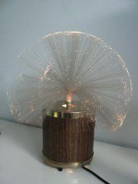 Vintage 1970s fiber optic rotating lamp / space age lamp ...