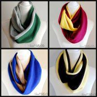 Hogwarts House Inspired Fleece Infinity Scarf Set of Four ...