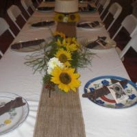 Sunflower table decorations | Creative world | Pinterest ...