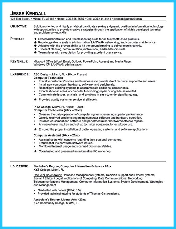 Resume examples monster