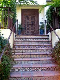 Tile stairs, Mexican tiles and Stair risers on Pinterest
