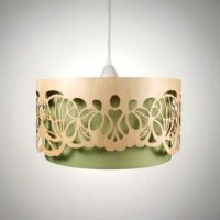 pendant lamp / lampshade out of wood / timber, laser cut ...