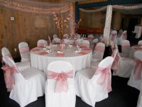 dusty rose wedding reception