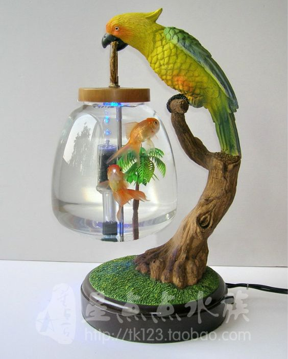 Table lamp fish tank mini fish tank goldfish bowl