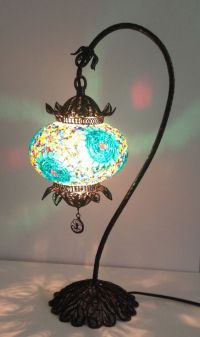 Decorative Handmade mosaic lamp with hand crafted copper ...