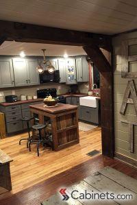 Cute rustic kitchen featuring Deerfield Shaker II Maple ...