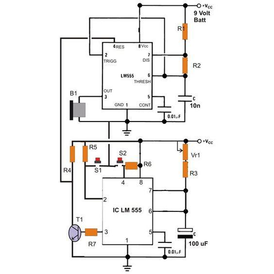 electronic circuits simple electronic buzzer