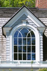 Dormer Window: Vertical window protruding through sloping ...