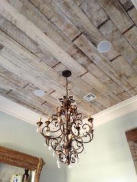 Antique white-washed pine ceiling | Our Lobby Remodel ...