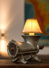 Meat Grinder Lamp made from large industrial Husqvarna 32 ...