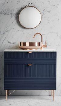 Navy, Rose Gold & Marble | BATH | Pinterest | Copper ...