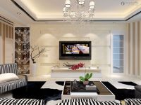 New modern living room TV background wall design pictures ...