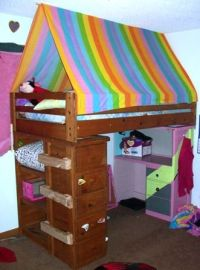 Bed tent, Bunk bed tent and Bunk bed on Pinterest