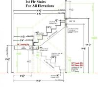 TYPICAL residential STAIR PLAN DRAWING - Google Search ...