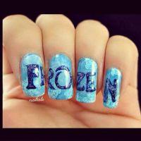 Frozen nail art | Nail Art & Care | Pinterest | Frozen ...