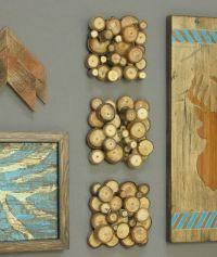Modern rustic wood slice wall art. Set of three tree ...