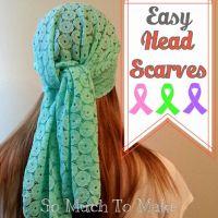 Easy Head Scarves Sewing Tutorial   Head scarfs, Friends ...
