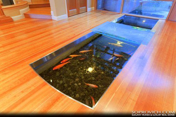Indoor Koi Pond Fish Tanks Pinterest The Floor