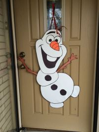 Olaf door decoration made from poster board, construction ...