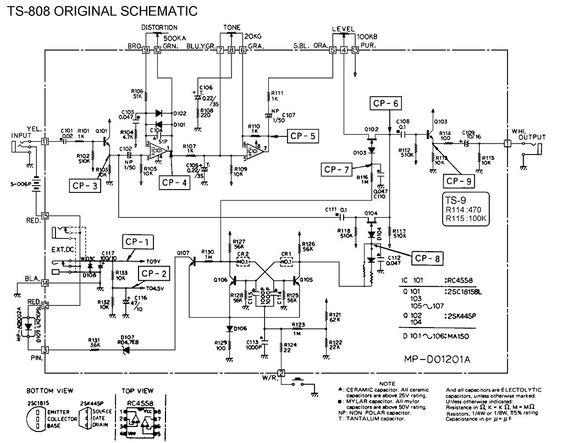diy guitar effects pedal schematics