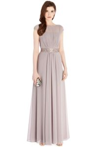 Grey Bridesmaid Dress with embellishment