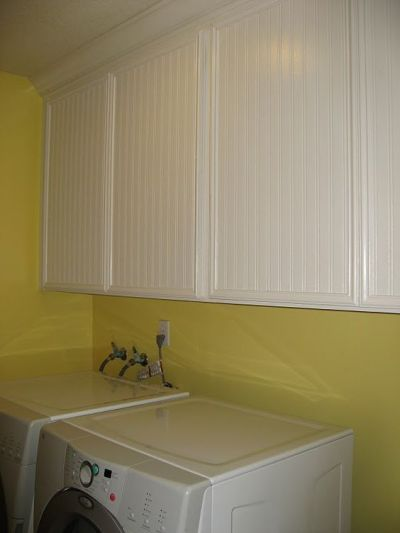 beadboard wallpaper on laminate cabinets   Home ideas   Pinterest   Wallpapers, Laundry Rooms ...