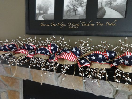 Memorial day decorations, Memorial day and July 4th on