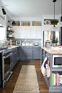 Two toned kitchen, Above kitchen cabinets and Kitchen ...