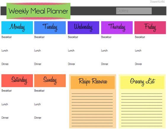weekly meal calendar Weekly Meal Planner-PDF available here - meal calendar