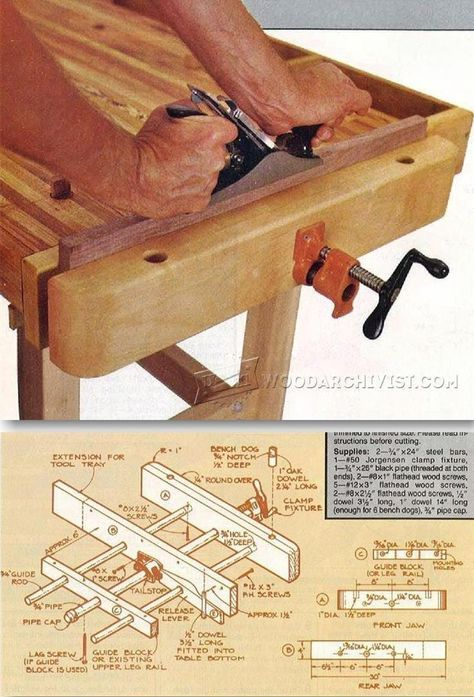 Home Workshop Workbench Plans - Workshop Solutions Projects, Tips