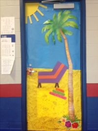 """Reading Shore is Fun"". Beach themed door decoration. May ..."