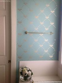 French Bee Trellis Stencil   Bathroom makeovers, Pastel ...