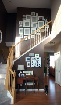Incredible layout for bi-level stairway. Picture Frame ...